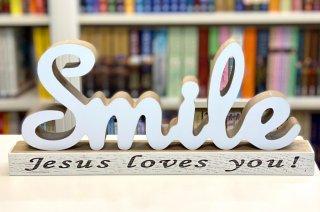 - Obiect decorativ lemn - SMILE