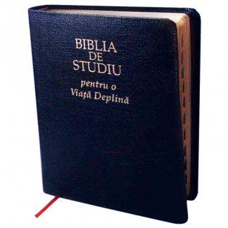 - Biblia de studiu pentru o viata deplina (editie de lux, coperta piele, bleumarin)